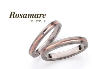 【Rosamare(ローザマーレ)】平打ちタイプのホワイトゴールド&ピンクゴールドのマリッジリング (140)
