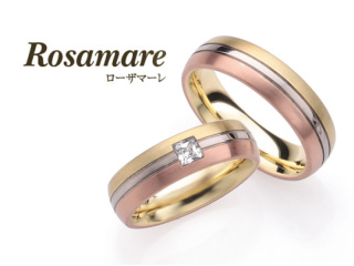 【Rosamare(ローザマーレ)】ホワイトゴールド・イエローゴールド・ピンクゴールドの3カラーコンビマリッジリング (503)