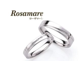 【Rosamare(ローザマーレ)】ホワイトゴールドの可愛いマリッジリング (068)