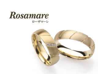 【Rosamare(ローザマーレ)】個性的なイエローゴールドのマリッジリング (066)