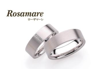 【Rosamare(ローザマーレ)】ホワイトゴールドの幅広マリッジリング (217)