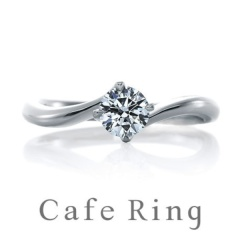 【KITAGAWA(キタガワ)】【リリィ デュー】ダイヤモンドの輝きが引き立つ正統派エンゲージリング