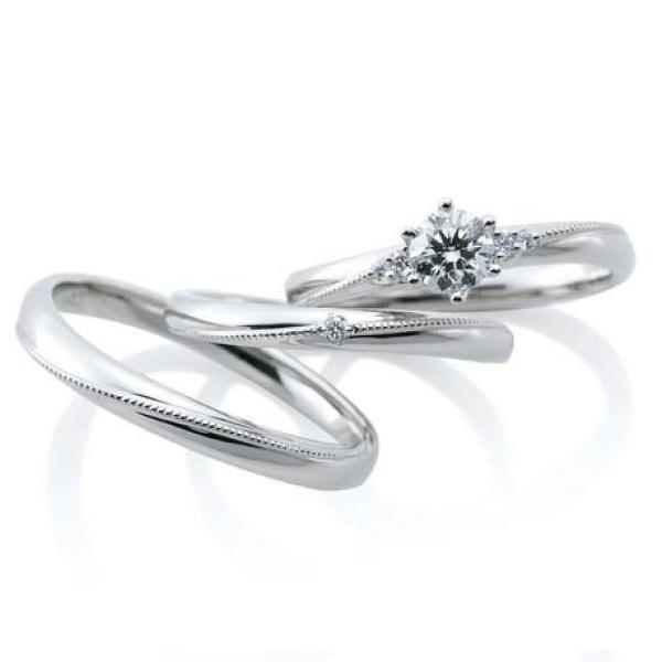 【KITAGAWA(キタガワ)】【ミエル デュー】ミル打ちが人気!こだわりの婚約指輪