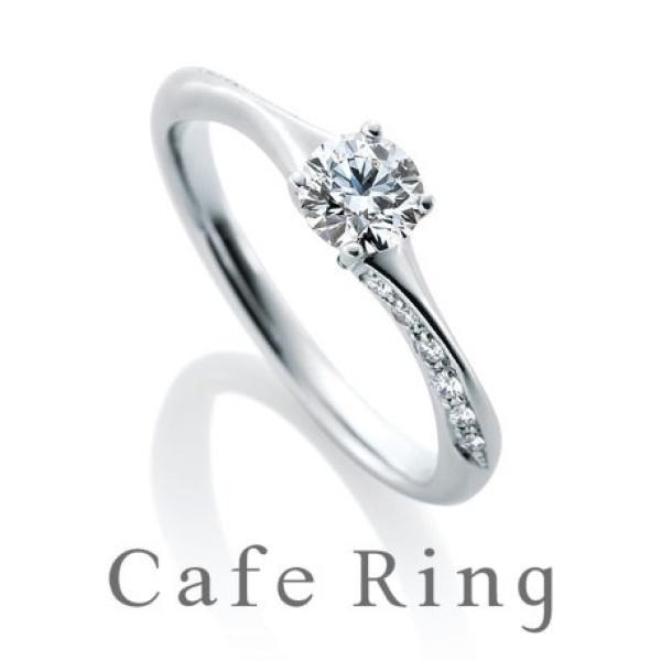 【KITAGAWA(キタガワ)】【ノエルブラン】繊細なラインにメレダイヤが流れるように輝く婚約指輪