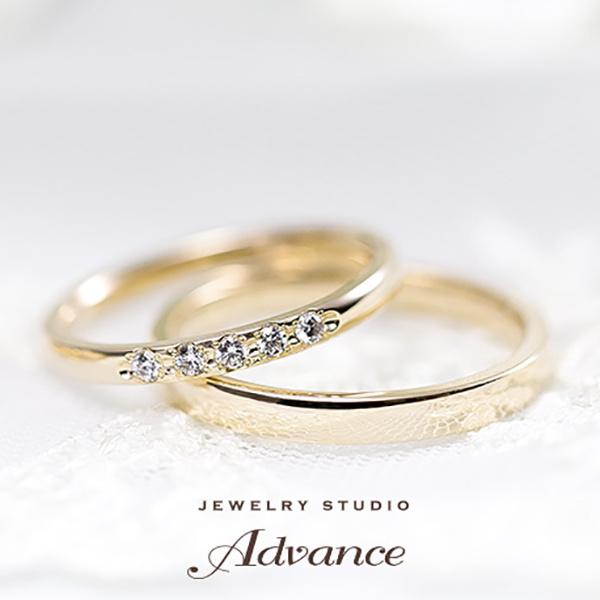 【JEWELRY STUDIO Advance(ジュエリースタジオアドバンス)】【Advance】 Bell(ベル)『輝きを集めたリング』