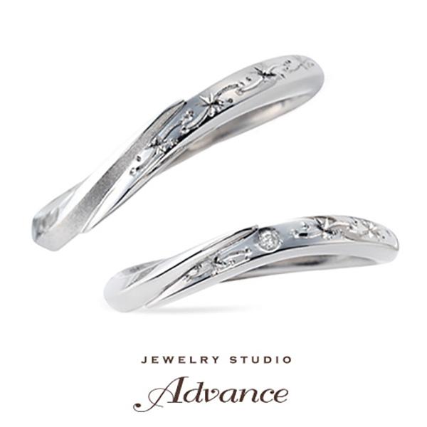 【JEWELRY STUDIO Advance(ジュエリースタジオアドバンス)】【Advance】snow crystal(スノークリスタル)『模様に想いを…』