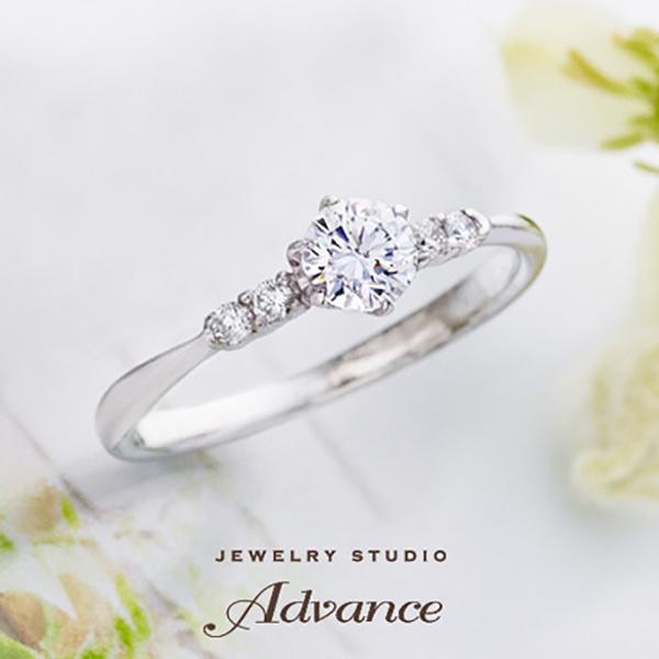 【JEWELRY STUDIO Advance(ジュエリースタジオアドバンス)】【Advance】Lace(レース)『センターダイヤが際立つ華奢なアーム』