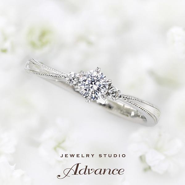 【JEWELRY STUDIO Advance(ジュエリースタジオアドバンス)】【Advance】Prie(プリエ)『かすみ草の花言葉に想いを託したリング』