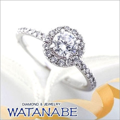【WATANABE / 宝石・貴金属 渡辺】[WATANABE]指元でまるでお花が咲きほこる様なキュートなリング