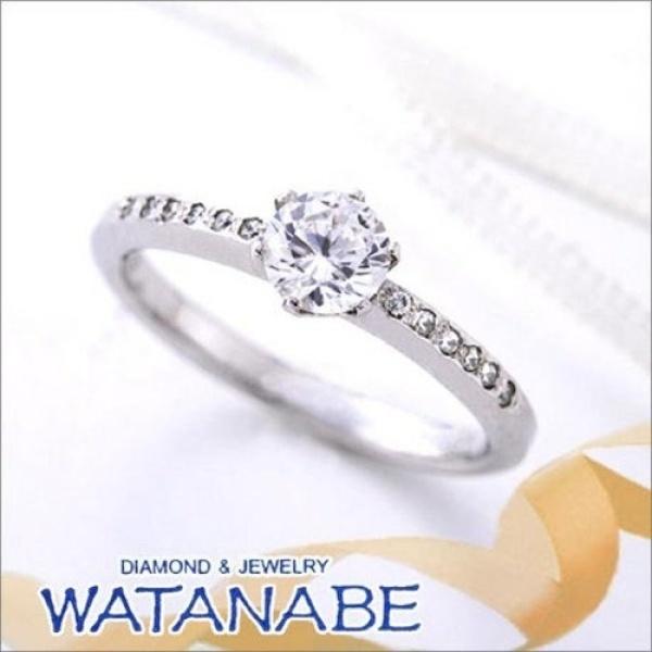 【WATANABE / 卸商社直営 渡辺】[WATANABE]シンプルなエタニティータイプ。大き過ぎないメレがポイント。