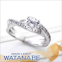 【WATANABE / 宝石・貴金属 渡辺】[WATANABE]1ctダイヤを包み込むデザインが指元を華やかに装う。