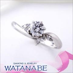 【WATANABE / 宝石・貴金属 渡辺】[WATANABE]花嫁の指元を彩るコサージュの様な可憐なデザイン