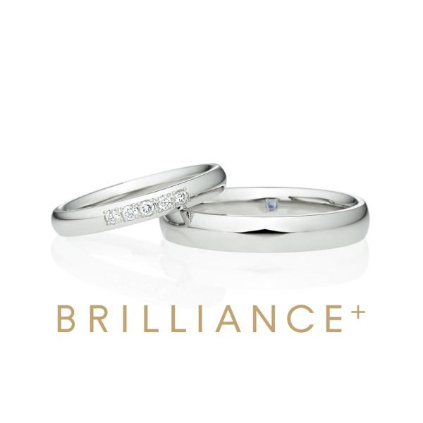 【BRILLIANCE+(ブリリアンスプラス)】PT950 オーバルミラープチエタ二ティ ダイヤモンド5つ入り  ミルグレイン