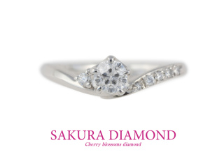 【さくらダイヤモンド】Pt900 さくらダイヤモンド リング