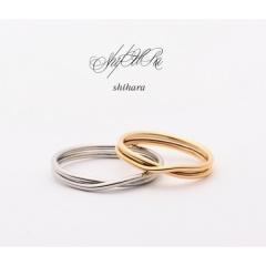 【COEUR D'OR(クゥドール)金沢 by BIJOUPIKO】【人気モデル愛用】shihara ーdouble ring13ー