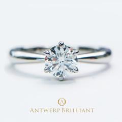 "【BROOCH(ブローチ)】""One Hearty Rose"" Solitaire Diamond Ring Set ""ワンハーティーローズ"" ソリテール ダイヤモンド リング"