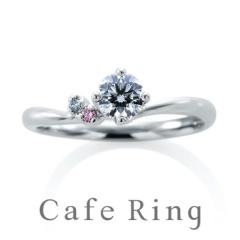【アイアイイスズ】【ローブドゥマリエ デュー】大人可愛いピンクダイヤモンドの婚約指輪