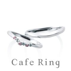 【アイアイイスズ】【ジャルダンドゥロゼ】ホワイトダイヤ・ピンクダイヤを爪留めした華やかリング