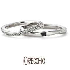 【VANillA(ヴァニラ)】クレッシェンド ~緩やかなウエーブが綺麗な指輪を演出してくれる結婚指輪