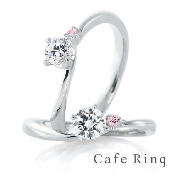 【GRACIS(グラシス)】【ローズヒップ デュー】優しいラインとピンクダイヤの愛されリング