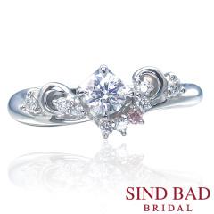 【SIND BAD(シンドバット)】婚約指輪【Tiara】花嫁を輝かせるティアラをイメージ
