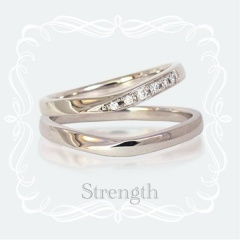 【SIND BAD(シンドバット)】【鍛造の結婚指輪】細身でも鍛造だから頑丈なマリッジリング!ダイヤも落ちにくい!