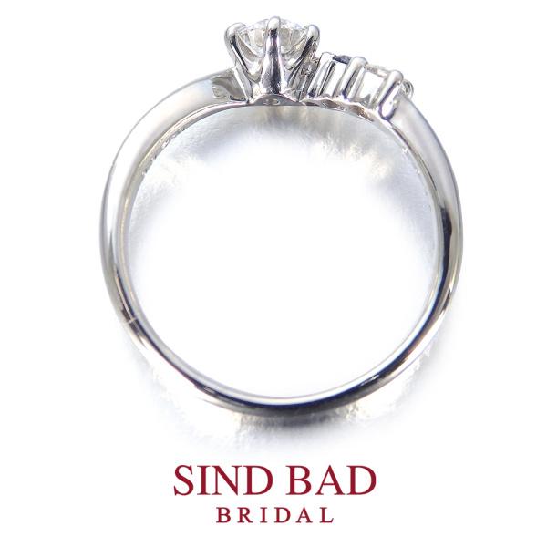 【SIND BAD(シンドバット)】婚約指輪【華雅(はなみやび)】