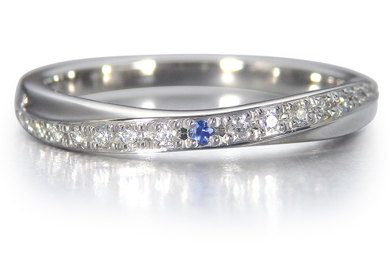 【SIND BAD(シンドバット)】結婚指輪【月虹(げっこう)】夜の月明かりから生まれた約束のしるし サファイア