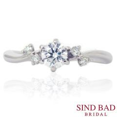 【SIND BAD(シンドバット)】婚約指輪 フェアリー 妖精を祝福をイメージ