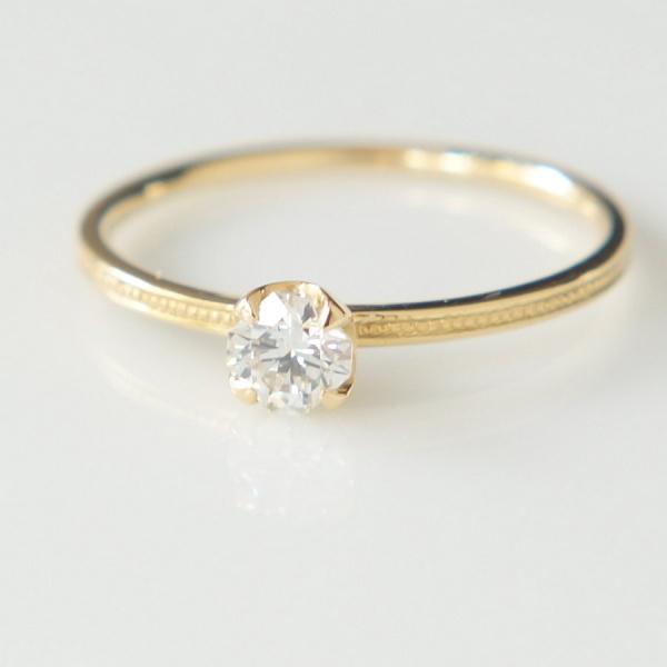 【Fuligoshed(フーリゴシェド)】フランダースカットダイヤモンド Plain ring