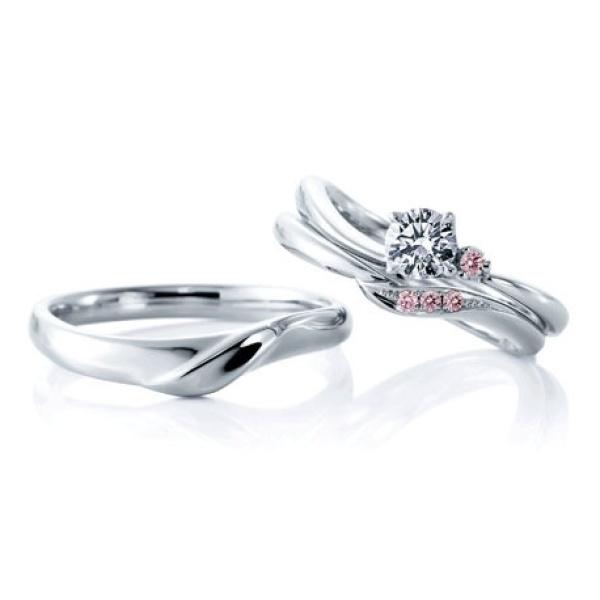 【ANNIVERSARY(アニバーサリー)】【ローズヒップ デュー】優しいラインとピンクダイヤの愛されリング
