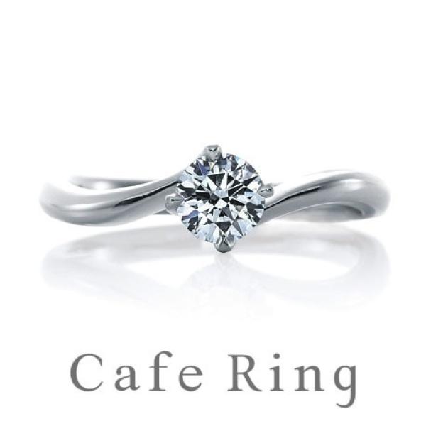 【RUNOA(ルノア)】【リリィ デュー】ダイヤモンドの輝きが引き立つ正統派エンゲージリング