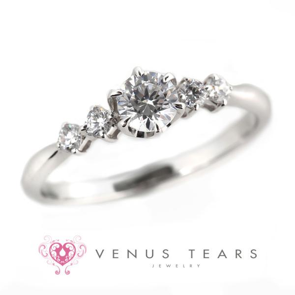 【VENUS TEARS(ヴィーナスティアーズ)】0.3ctダイヤ込価格Pt900【P462-03】