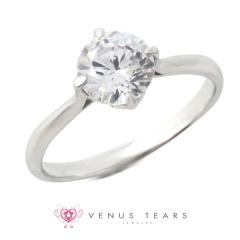 【VENUS TEARS(ヴィーナスティアーズ)】1ctダイヤ【ER-01-10】