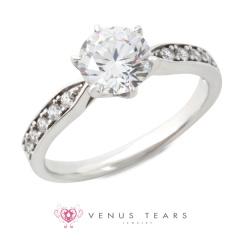 【VENUS TEARS(ヴィーナスティアーズ)】1ctダイヤ【ER-04-10】