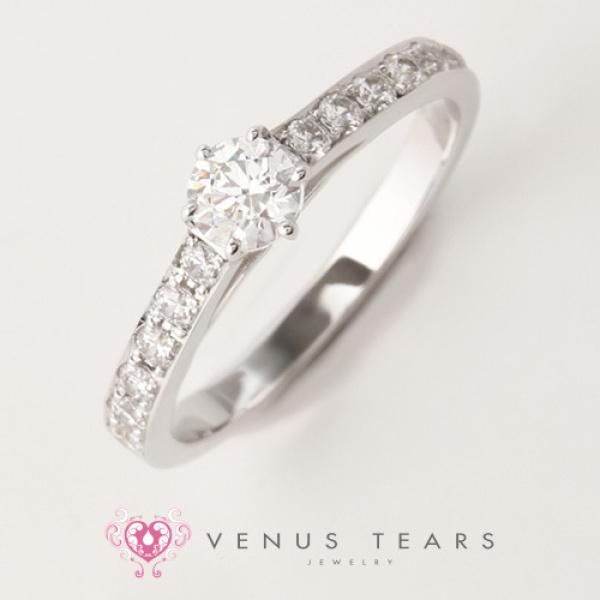 【VENUS TEARS(ヴィーナスティアーズ)】0.3ctダイヤ込価格Pt900【NEWOE50-03】