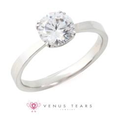 【VENUS TEARS(ヴィーナスティアーズ)】1ctダイヤ【ER-08-10】