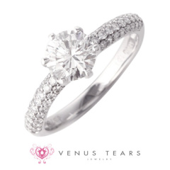 【VENUS TEARS(ヴィーナスティアーズ)】1ctダイヤ【ER-10-10】