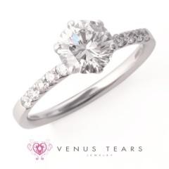 【VENUS TEARS(ヴィーナスティアーズ)】1ctダイヤ【ER-05-10】