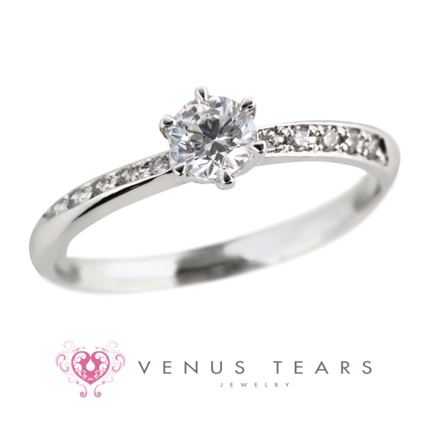 【VENUS TEARS(ヴィーナスティアーズ)】0.3ctダイヤ込価格Pt900【P417-03】