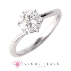 【VENUS TEARS(ヴィーナスティアーズ)】1ctダイヤ【ER-03-10】