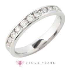【VENUS TEARS(ヴィーナスティアーズ)】0.5ctダイヤ込価格Pt900【349-83-05】