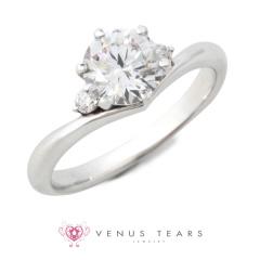 【VENUS TEARS(ヴィーナスティアーズ)】1ctダイヤ【ER-09-10】
