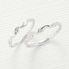 【パルテ熊本】女性らしい柔らかな曲線の可愛らしい細身デザイン♪指がほっそり見える効果も☆*。