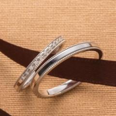 【パルテ熊本】ダイヤ15石にミル打ちラインが加わり普段使いしやすくファッションに合わせやすい!