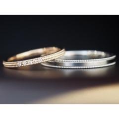 【パルテ熊本】○*。アンティーク調のミル打ちリング☆ダイヤの数はお好みでセッティングできる○*