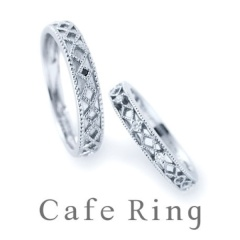 【Padou(パドゥ)】【 テ・ルージュ】美しいミル打ちと透かし彫りのこだわりの結婚指輪