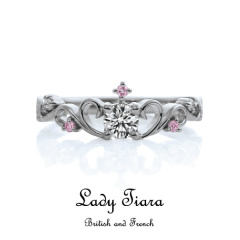 【troa accessories(トロアアクセサリーズ)】【Lady tiara】FRENCH STYLE ティアラタイプエンゲージ Pt