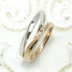 【Lovers&Ring(ラバーズリング)】LSR-0650DPK,WG【合わせるとハートになる人気No.1デザイン】