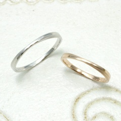 【Lovers&Ring(ラバーズリング)】LSR-0604PK,WG【細身・華奢好きの方にオススメ】
